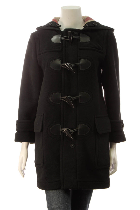 Burberry The Mersey Duffle Coat - Black Size 6