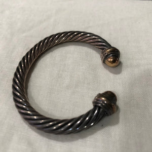 David Yurman Two Tone Cable bracelet