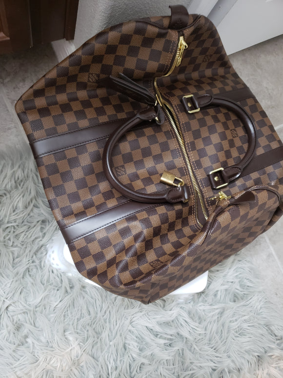 Louis Vuitton Damier Ebene keepall 50 Bag
