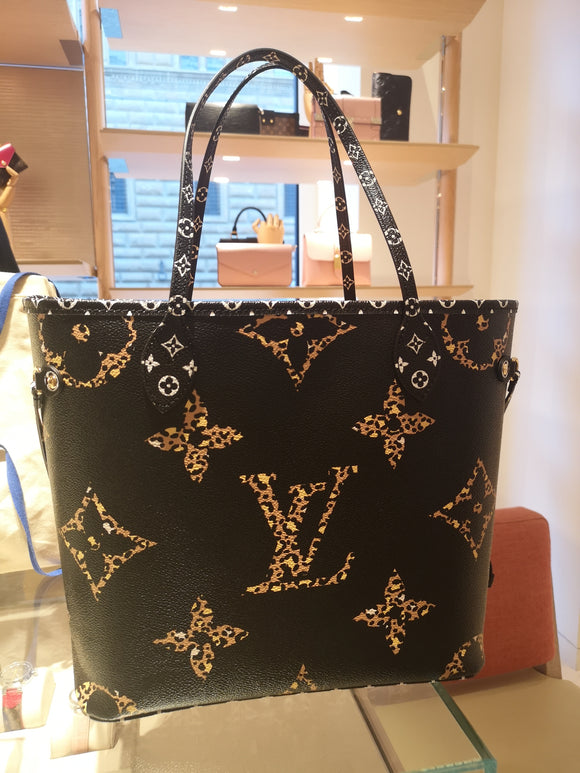 Louis vuitton jungle neverfull mm tote