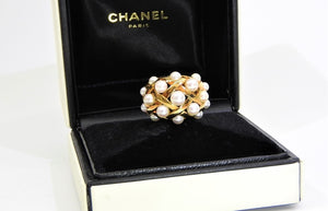 Chanel Pearl Cocktail ring