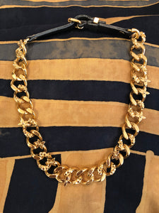Louis Vuitton Leather Curb Link necklace