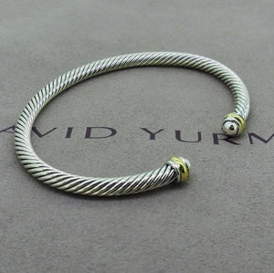 David Yurman 5mm Silver/Gold Cable bracelet