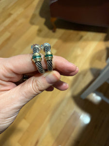 David Yurman Emerald Cable earrings