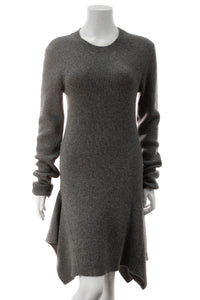 Stella McCartney Asymmetrical Ribbed Knit Dress - Gray Size 48