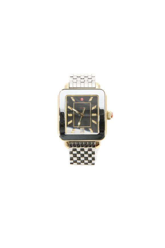 Michele Deco Sport Watch - Silver/Gold