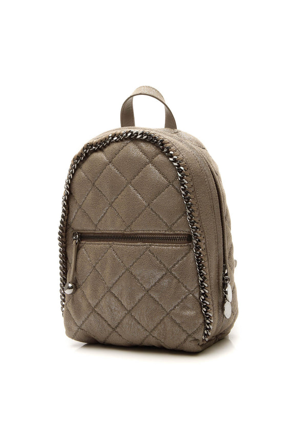 Stella McCartney Falabella Quilted Mini Backpack - Metallic Camel