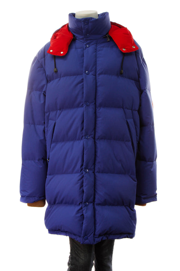 Gucci Puffer Men's Jacket - Blue/Red Size 48