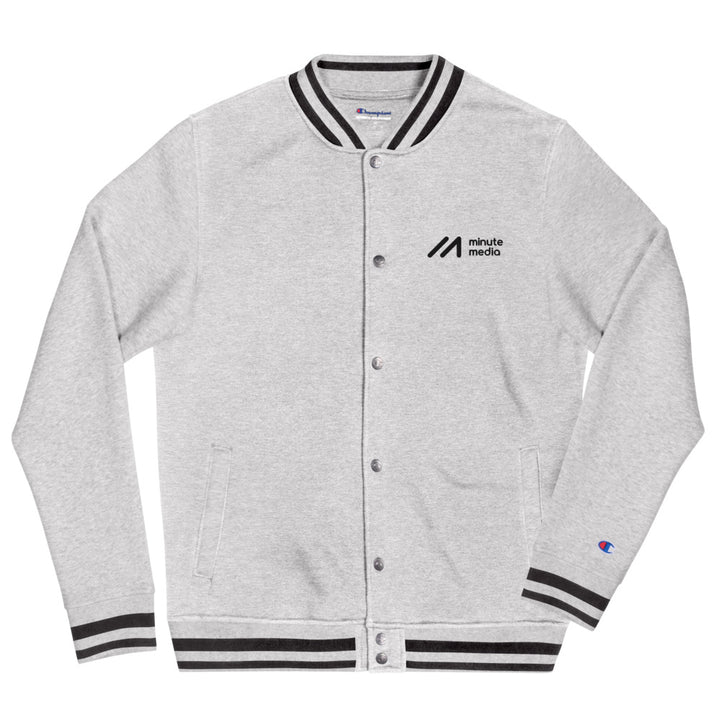 Minute Media Embroidered Champion Bomber Jacket