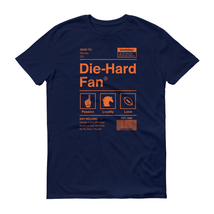 Denver Football Die-Hard Fan Short-Sleeve T-Shirt