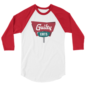Guilty Eats 3/4 sleeve raglan shirt