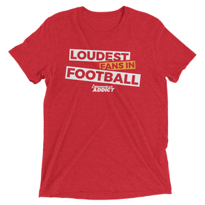 Men's Loudest Fans In Football Arrowhead Addict Short Sleeve T-Shirt