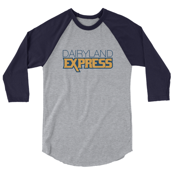Dairyland Express 3/4 sleeve raglan shirt