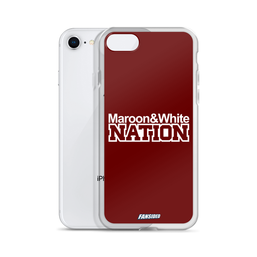Maroon and White Nation iPhone Case