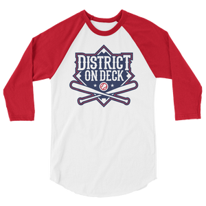 District on Deck 3/4 sleeve raglan shirt