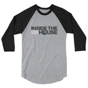 Inside the BB House 3/4 sleeve raglan shirt
