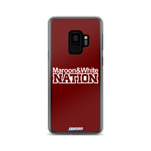 Maroon and White Nation Samsung Case