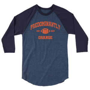 Predominantly Orange  3/4 sleeve raglan shirt
