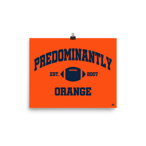 Predominantly Orange Premium Matte Poster