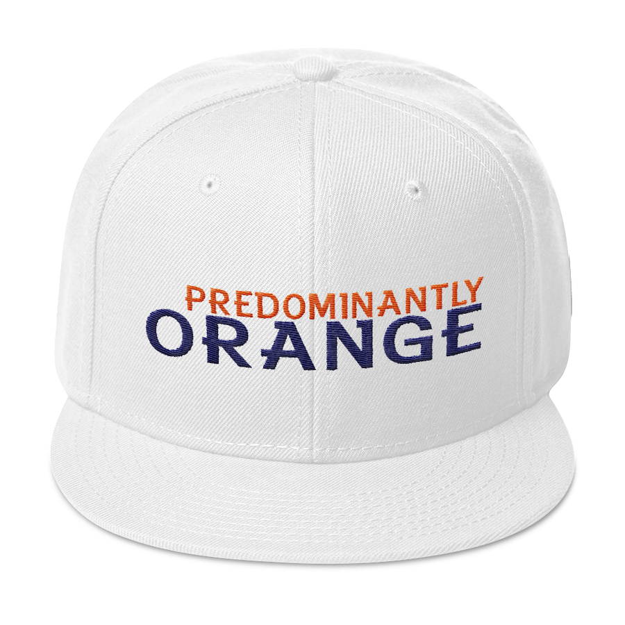 Predominantly Orange Snapback Hat
