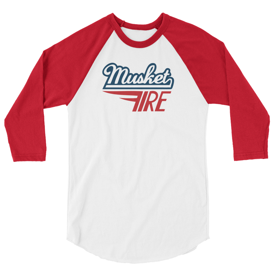 Musket Fire 3/4 sleeve raglan shirt