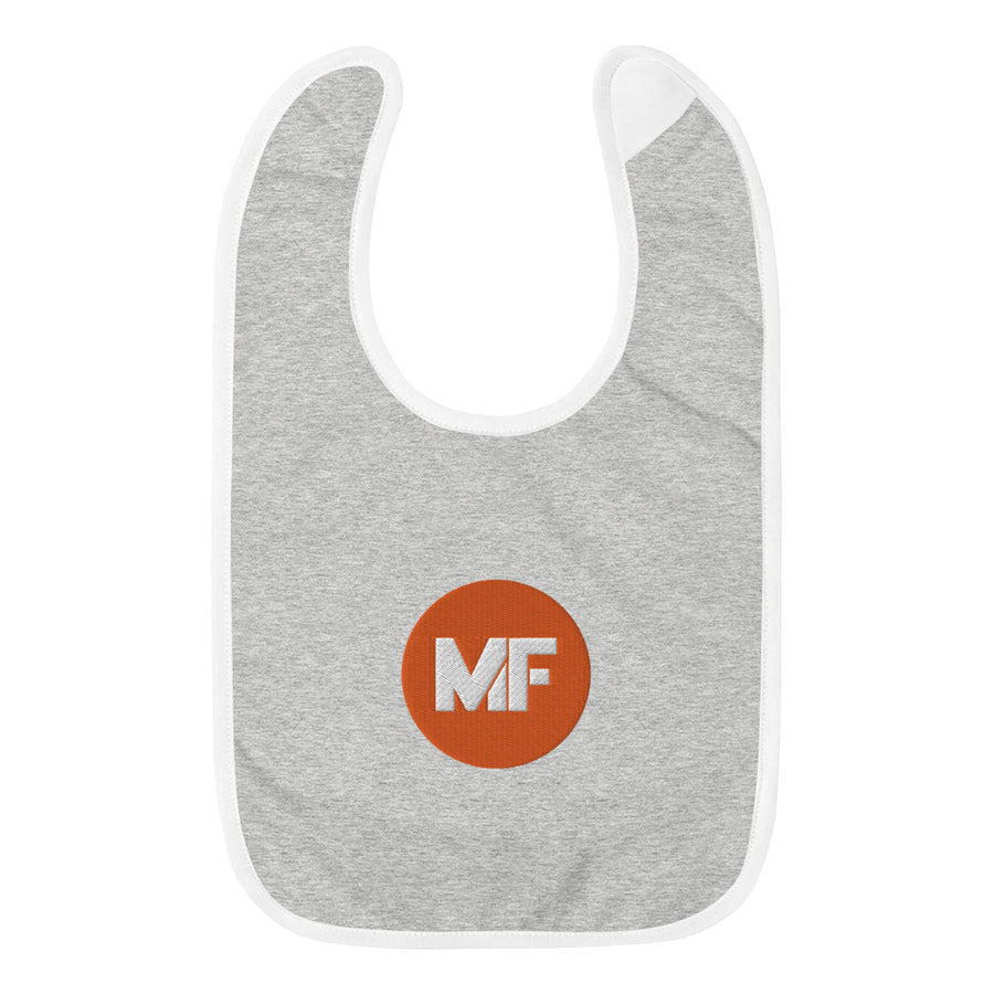 Mental Floss Embroidered Baby Bib