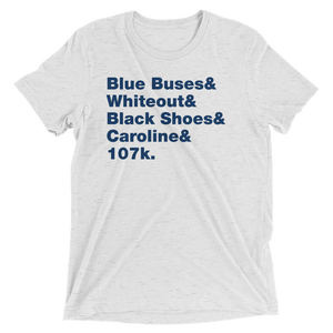 Blue Buses & Whiteout Short Sleeve T-Shirt
