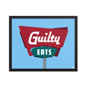 Guilty Eats Framed poster