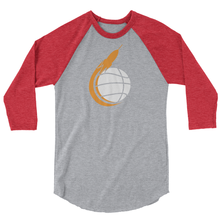Space City Scoop 3/4 sleeve raglan shirt