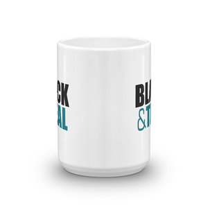 Black and Teal Mug