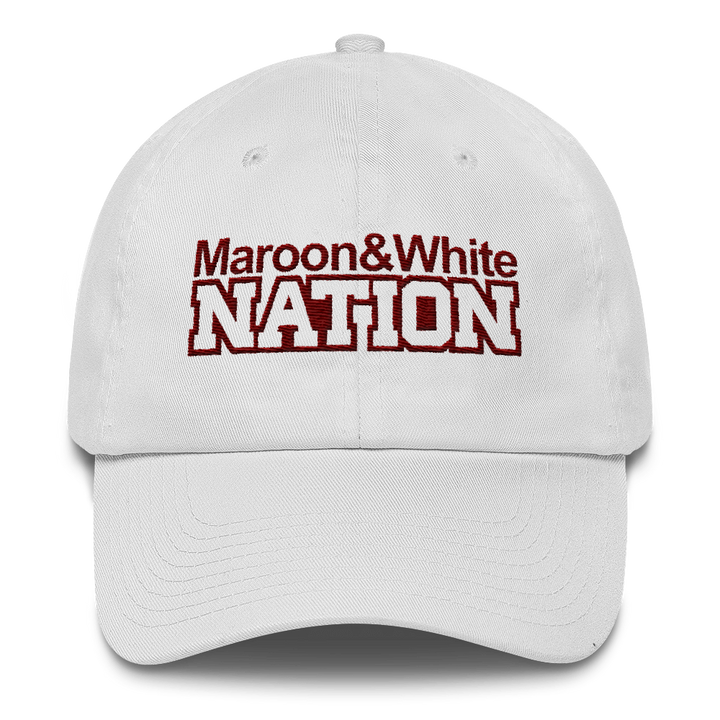 Maroon and White Nation Cotton Cap