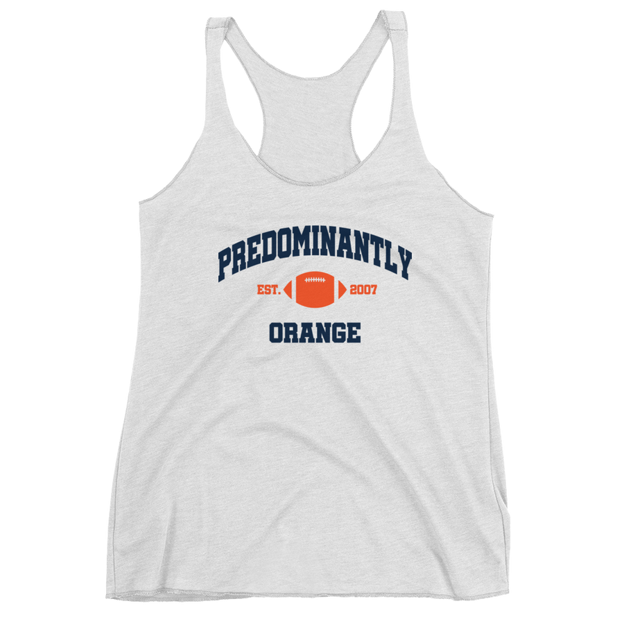 Women's Predominantly Orange Racerback Tank