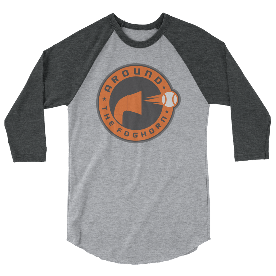 Around the Foghorn 3/4 sleeve raglan shirt