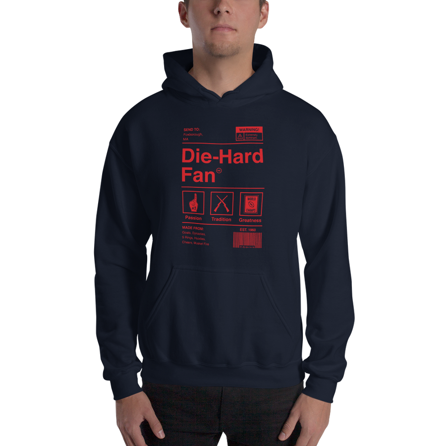 New England Football Die-Hard Fan Hooded Sweatshirt