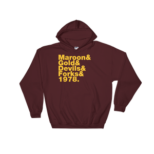 Maroon & Gold Hooded Sweatshirt