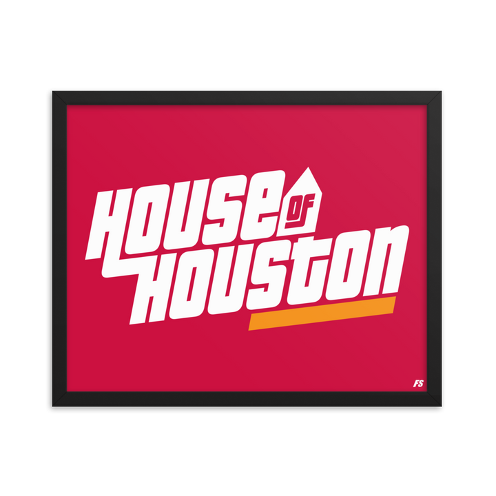 House of Houston Framed poster
