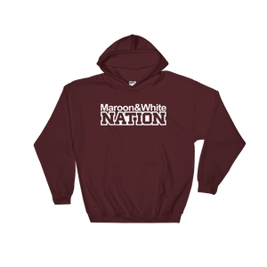 Maroon and White Nation Hooded Sweatshirt