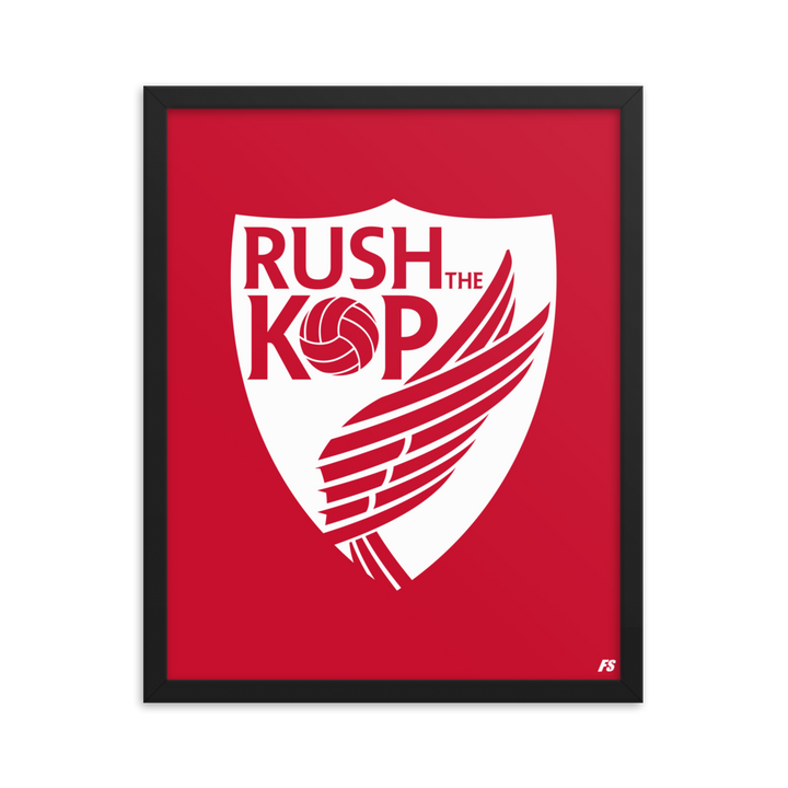 Rush The Kop Premium Matte Framed Poster