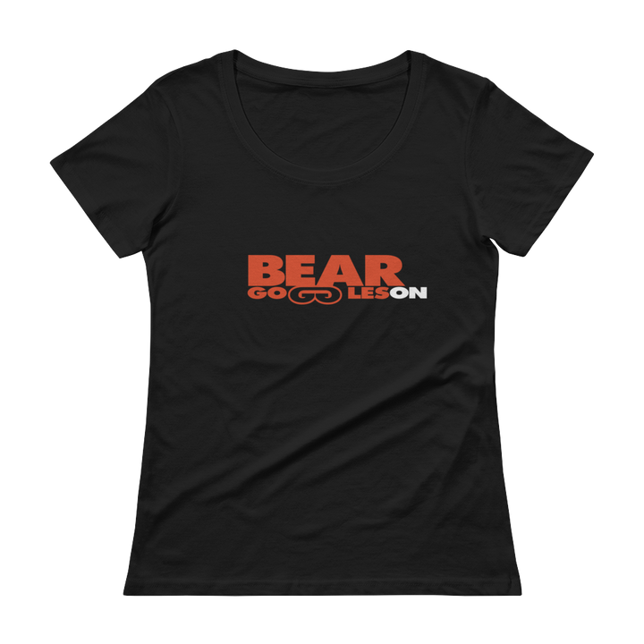 Women's Bear Goggles On Scoopneck T-Shirt