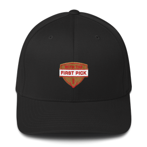 With the First Pick Structured Twill Cap