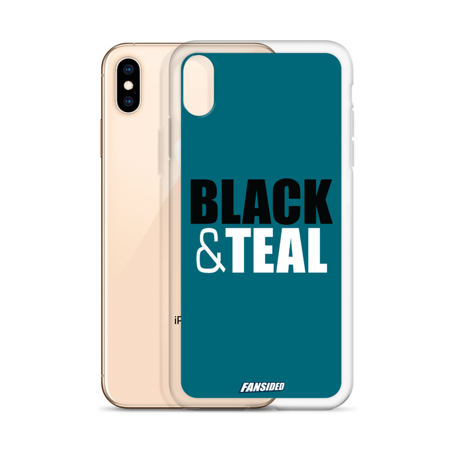 Black and Teal iPhone Case