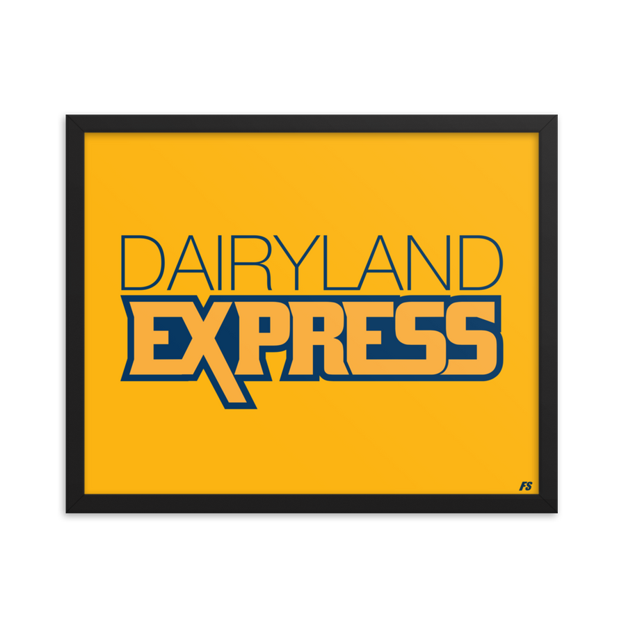 Dairyland Express Framed poster