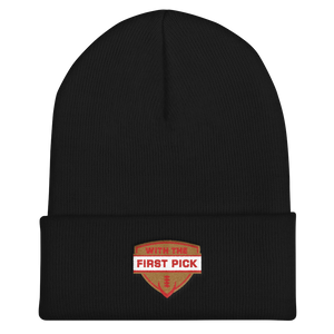 With the First Pick Cuffed Beanie