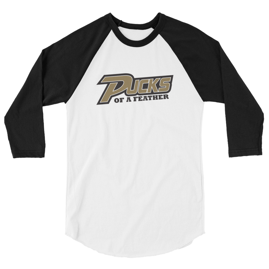 Pucks of a Feather 3/4 sleeve raglan shirt