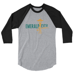 Emerald City Swagger 3/4 sleeve raglan shirt