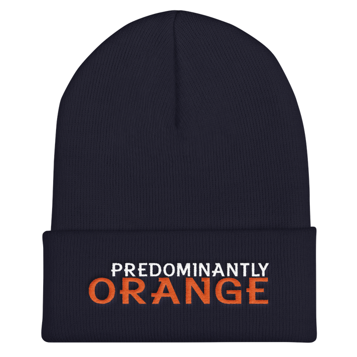 Predominantly Orange Cuffed Beanie