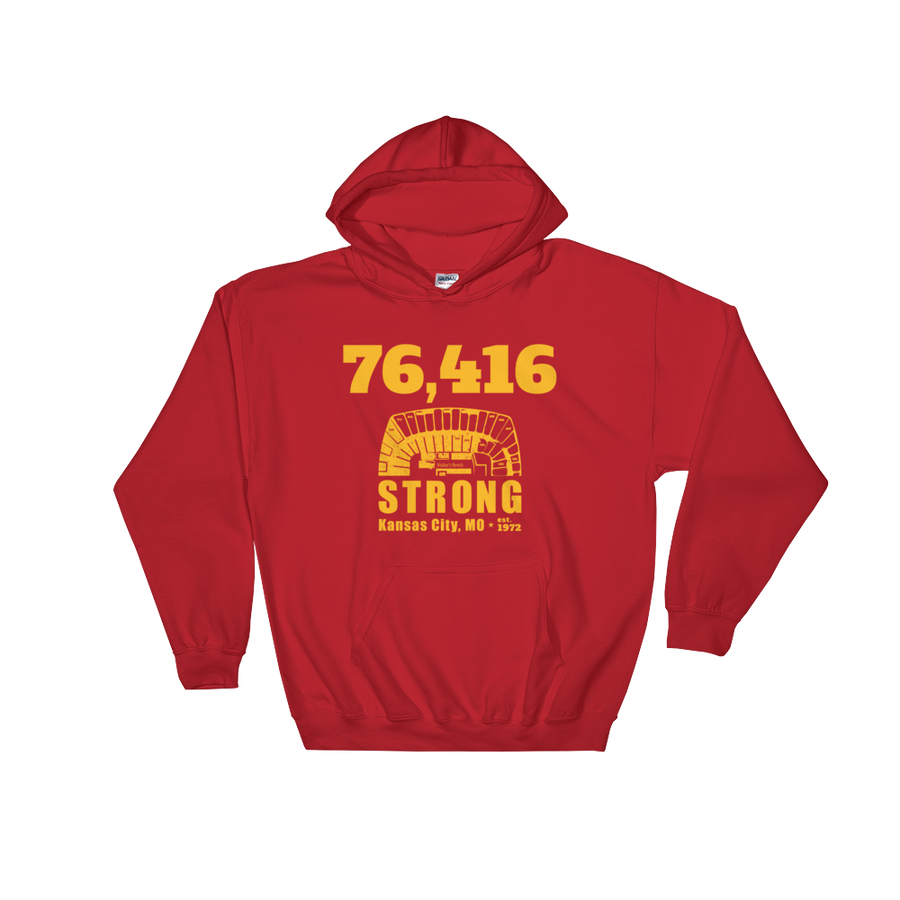 76,416 Strong Hooded Sweatshirt