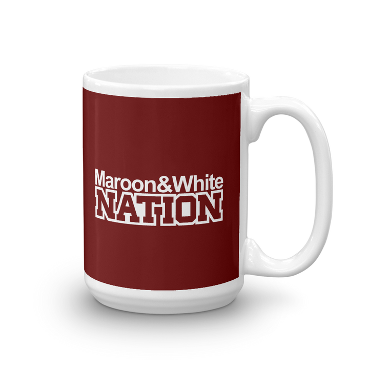 Maroon and White Nation Mug
