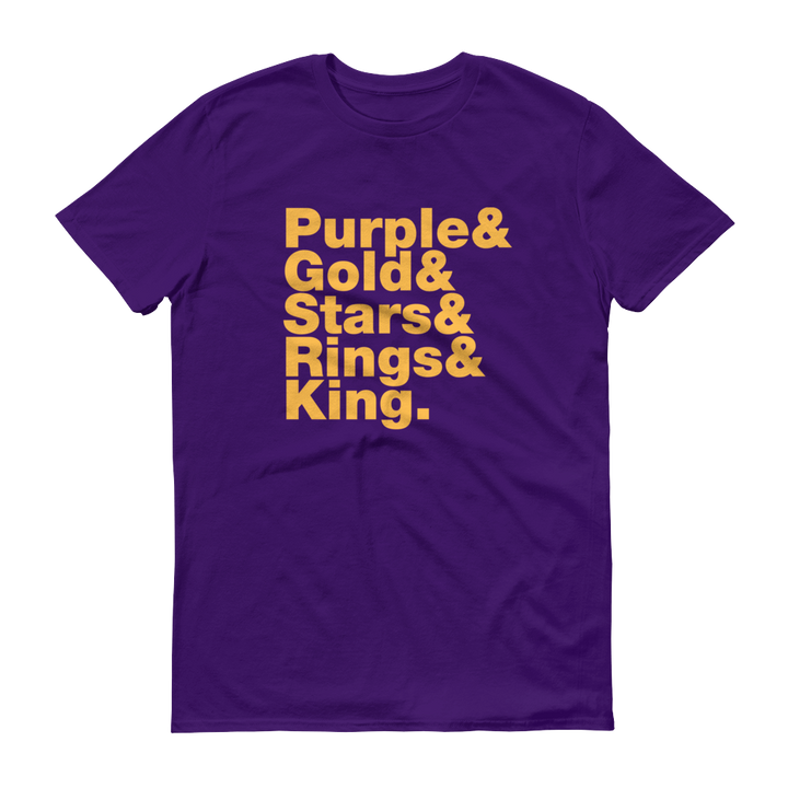 Purple & Gold Short-Sleeve T-Shirt