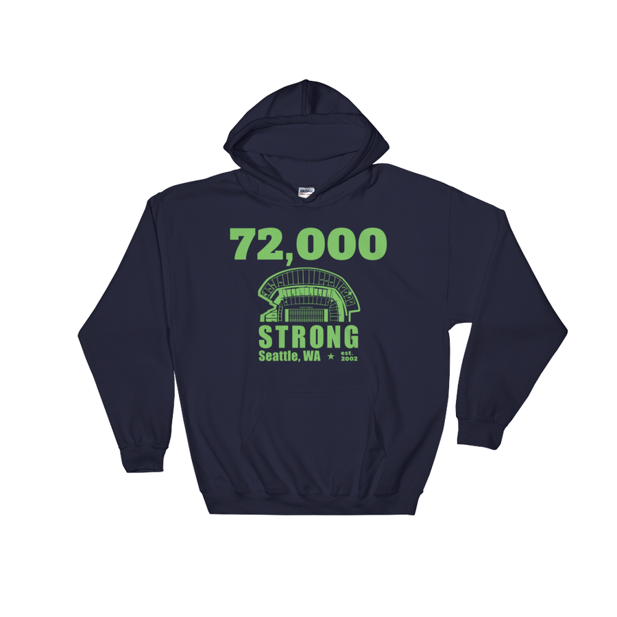 72,000 Strong Hooded Sweatshirt